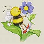 "Вышивка ""Пчелка"". Вышивка подушки"