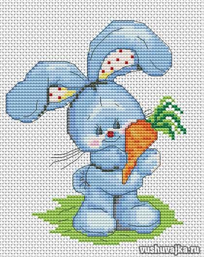 Схемы вышивки морковки