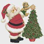 """Новогодняя вышивка """"Дед Мороз"""". Схемы для вышивки крестом"""