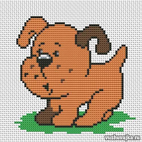 Вышивки крестом собаки фото
