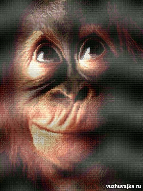 Схема вышивки обезьяна