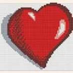"""Вышивка крестом для начинающих """"Сердечко"""""""