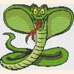 """Вышивка """"Змея"""". Рубрика """"Вышивка крестом для начинающих"""""""
