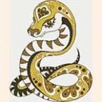 вышивкка крестом змеи