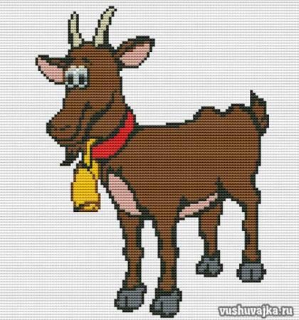 """Вышивка крестом """"Коза"""""""