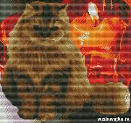 """Вышивка крестом """"Красивый кот"""""""