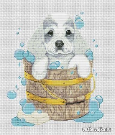 Вышивка крестом собаки