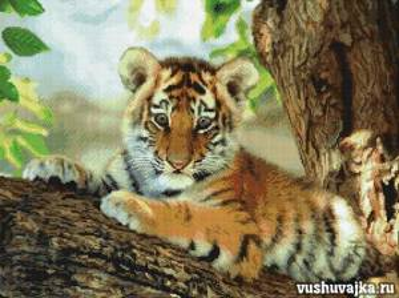 Вышивка тигра крестом