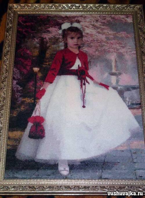 Вышивка портрета из фотографии