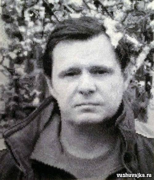 Портрет, вышивка крестом по фото