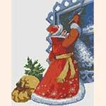 """Схемы для вышивки крестом. Новогодняя вышивка """"Дед Мороз"""""""