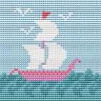 Кораблик. Вышивка крестом для начинащих