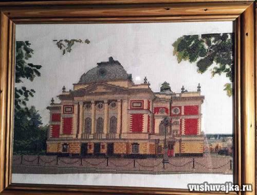 Вышивка крестом по фото. Иркутский драмтеатр